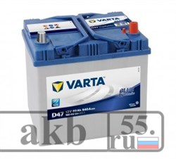 Аккумулятор 60 Varta Blue Dynamic Азия обратный - фото 4494