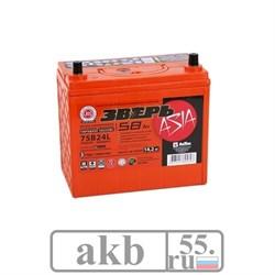 Аккумулятор 58 (75B24L) Зверь Азия обратный - фото 4559