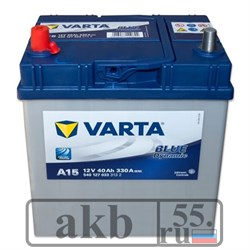 Аккумулятор 40 Varta Blue Dynamic  Азия прямой - фото 4915