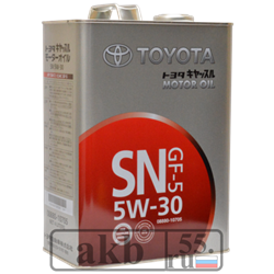 Toyota 5W30 SN/CF 08880-10705 железная банка (синтетика) 4L - фото 5116