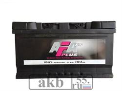 Аккумулятор 80 AFA Plus обратный низкий - фото 5433