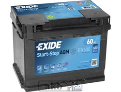 Аккумулятор 60 EXIDE AGM Start-Stop обратный - фото 5469