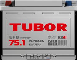 Аккумулятор 75.1 TUBOR EFB прямой - фото 5643