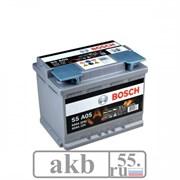 Аккумулятор 60 Bosch S5 AGM 050 обратный (0092S5A050)