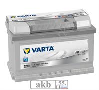 Аккумулятор 74 Германия Varta Silver обр.п  низк (574 402 075),