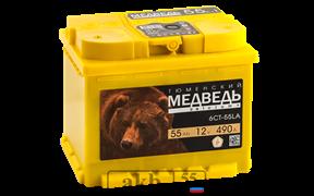 Аккумулятор Тюменский медведь 55 прямой