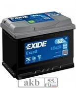 Аккумулятор 62 EXIDE Excell обр.пл