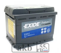 Аккумулятор 64 EXIDE Premium пр.пл