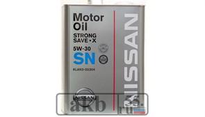 Nissan SN 5W-30 KLAN3-05304 (синтетика) Япония 4L ж/б