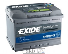 Аккумулятор 77 EXIDE Premium обр.пл.