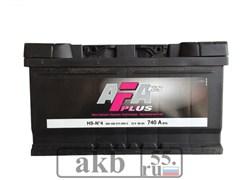 Аккумулятор 80 AFA Plus обратный низкий