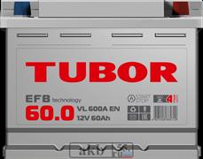 Аккумулятор 60.0 TUBOR EFB обратный