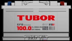 Аккумулятор 100.0 TUBOR EFB обратная