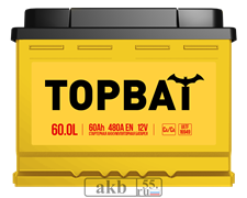 Аккумулятор 60.0 TOPBAT обратный