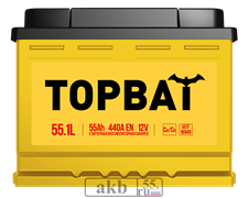 Аккумулятор 55.1 TOPBAT прямой