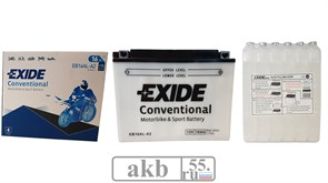 Аккумулятор 16Ah EXIDE Moto 175a (EB16AL-A2 )