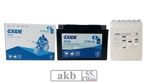 Аккумулятор EXIDE 8Ah  Moto 110a ET9B-BS