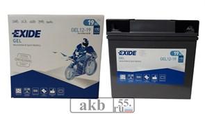 Аккумулятор EXIDE 19Ah  Moto GEL 170a (GEL-1219)