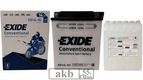 Аккумулятор 14Ah EXIDE Moto 145a  (EB14-B2)