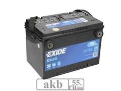 Аккумулятор 75 EXIDE Excell EB758 бок.кл прямой