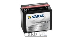 Аккумулятор 18 ah Varta PowerSport AGM 250а  обратный
