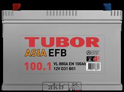 Аккумулятор 100.1 TUBOR EFB Азия прямой