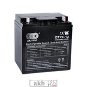 Аккумулятор 12v 26Ah OUTDO VRLA (OT 26-12)