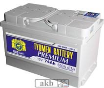 Аккумулятор 74 Тюмень LA PREMIUM обратный низкий