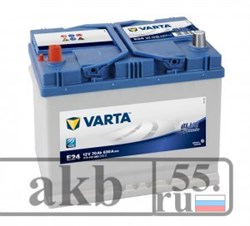 Аккумулятор 70  Varta Blue Dynamic   Азия прямой - фото 4500