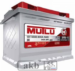 Аккумулятор 60 Mutlu SFB обратный - фото 4980