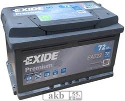 Аккумулятор 72 EXIDE Premium обратный - фото 5028
