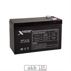 Аккумулятор 7.2Ah Xtreme VRLA (ОТ 7.2-12) - фото 5468