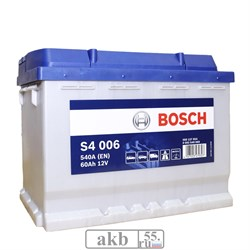 Аккумулятор 60 Bosch S4  прямой(0 092 S40 060) - фото 5484
