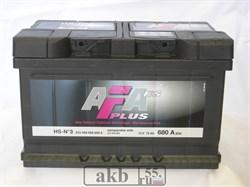 Аккумулятор 72 AFA Plus обратный низкий - фото 5562