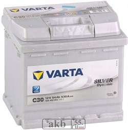 Аккумулятор 54 Varta Silver Dynamic обратный - фото 5588