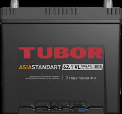 Аккумулятор 62.1 TUBOR Азия борт прямой - фото 5616