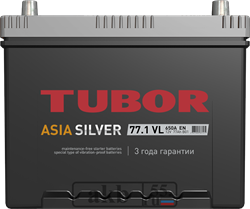 Аккумулятор 77.1 TUBOR Азия SILVER прямой - фото 5621