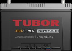 Аккумулятор 100.0 TUBOR Азия Silver обратный - фото 5623
