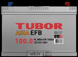 Аккумулятор 100.0 TUBOR EFB Азия обратный - фото 5638