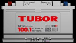 Аккумулятор 100.1 TUBOR EFB прямой - фото 5645