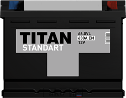 Аккумулятор 66.0 TITAN STANDART обратный - фото 5655