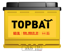 Аккумулятор 60.0 TOPBAT обратный - фото 5662