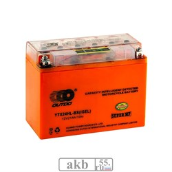 Аккумулятор 21Ah  OUTDO UTX24НL-BS IGEL (22Ah) обратный - фото 5806