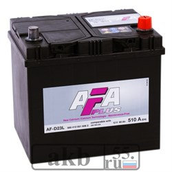 Аккумулятор 60 AFA Plus Азия D23L обратный - фото 6617