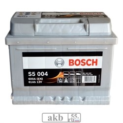 Аккумулятор 61 Bosch Silver S5  низкий обратный - фото 6889