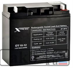 Аккумулятор 18 Ah Xtreme VRLA (OT 18-12) - фото 6892