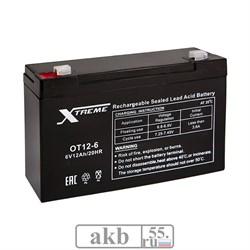Аккумулятор 6v 12Ah Xtreme VRLA (OT 12-6) - фото 6894