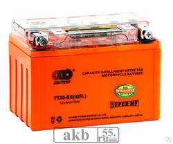 Аккумулятор 12v 10Ah Moto Xtreme UTX10 (YTX9)-BS iGEL прямая - фото 6895