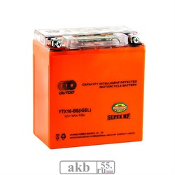 Аккумулятор 12v 14Ah Moto OUTDO UTX16 (YTX16)-BS iGEL прямая - фото 6898