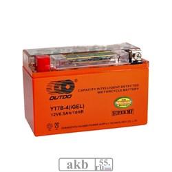 Аккумулятор 12v 6.5Ah Moto OUTDO YT7B-4 iGEL прямая - фото 6901
